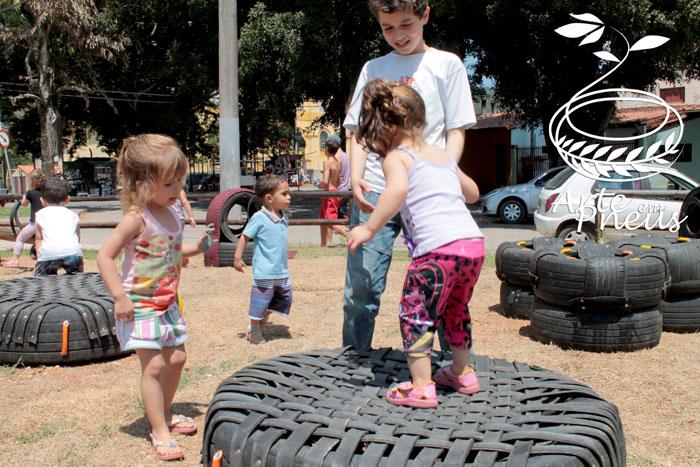 artes em pneu