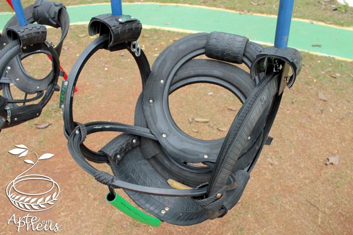 balanço de pneu para deficiente