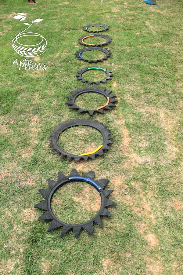 jogo amarelinha de pneu 1
