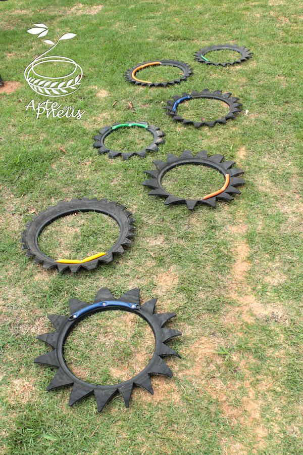 jogo amarelinha de pneu 2