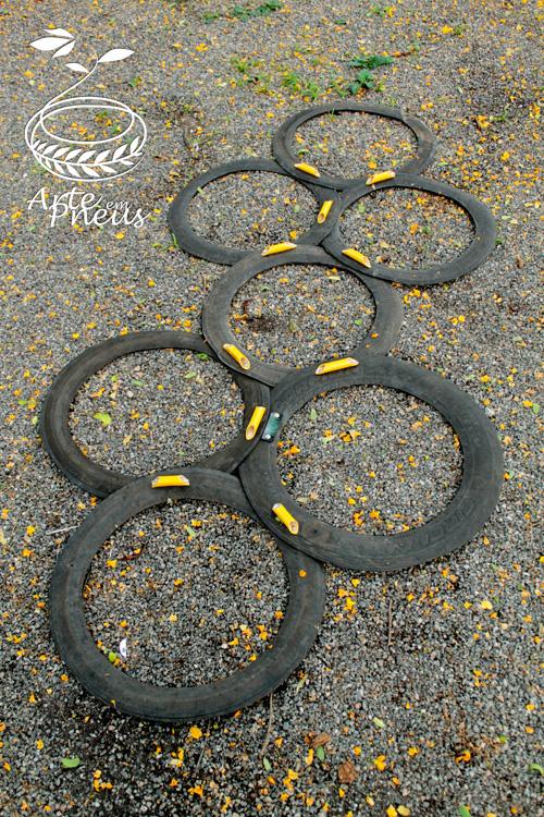 amarelinha de pneu