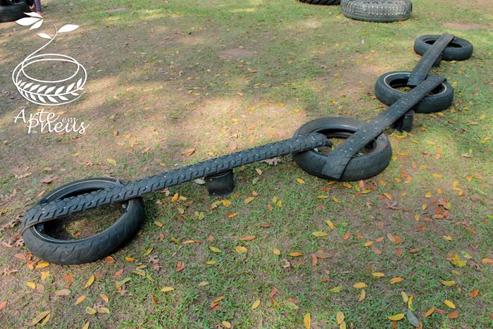 passarela de pneu